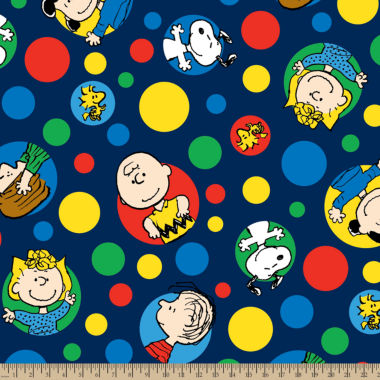 jcpenney.com | Peanut Friends Dots Fleece Fabric By the Yard