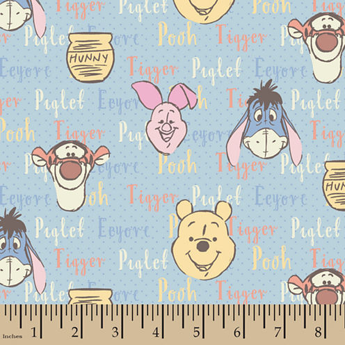 Disney Pooh Hunny Flannel Fabric By the Yard