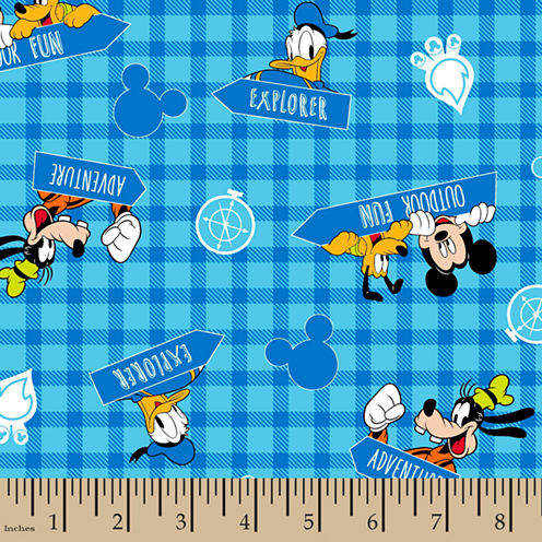 Disney Mickey Mouse Flannel Fabric By the Yard