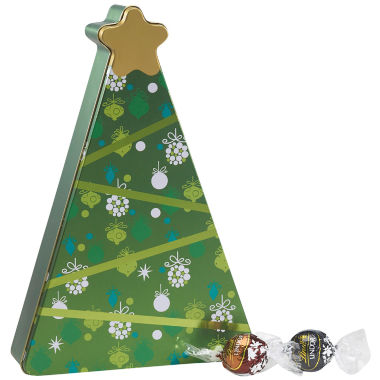 jcpenney.com | Lindor Holiday Tree Gift Tin