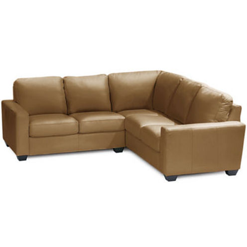 Leather Possibilities Track-Arm 2-pc.Right-Arm Corner Sectional