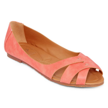 jcpenney.com | GC Shoes Perfect Timing Peep-Toe Flats