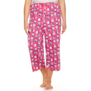 Sleep Chic Knit Capri Pajama Pants - Plus