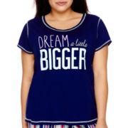 Sleep Chic Women's Short-Sleeve Pajama Top