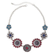 Decree® Metal Flower Necklace