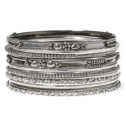 Decree® Silver-Tone 12-pc. Bangle Set