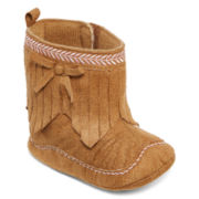 Okie Dokie® Suede Fringe Boot - Baby Girls 3m-12m
