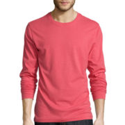 St. John's Bay® Long-Sleeve Crewneck T-Shirt