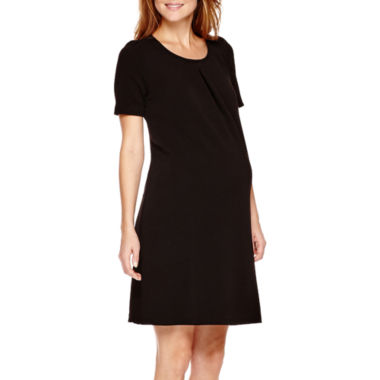 jcpenney.com | Maternity Short-Sleeve Keyhole Back Dress - Plus