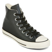 Converse® Chuck Taylor All Star Leather and Shearling High-Top Sneakers - Unisex Sizing