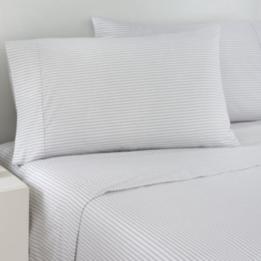 jcpenney.com | IZOD® Gray Ticking Stripe Sheet Set