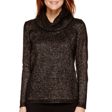jcpenney.com | Worthington® Long-Sleeve Cowlneck Sweater - Petite