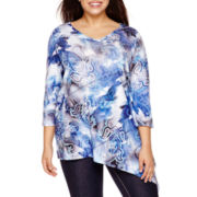 Unity World Wear® 3/4-Sleeve Asymmetric Tunic