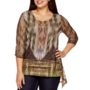 Unity World Wear® Long-Sleeve Asymmetric Hem-Top