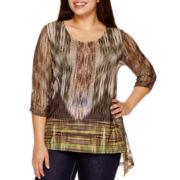 Unity World Wear® Long-Sleeve Asymmetric Hem-Top