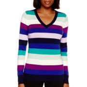 Worthington® Long-Sleeve V-Neck Sweater
