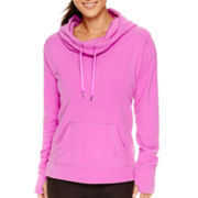 Xersion™ Long-Sleeve Cowlneck Fleece Pullover