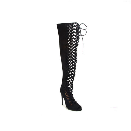 Qupid Interest-152 Womens Over the Knee Boots