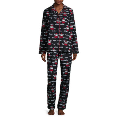 jcpenney.com | Flannel Notch Collar Pant Pajama Set