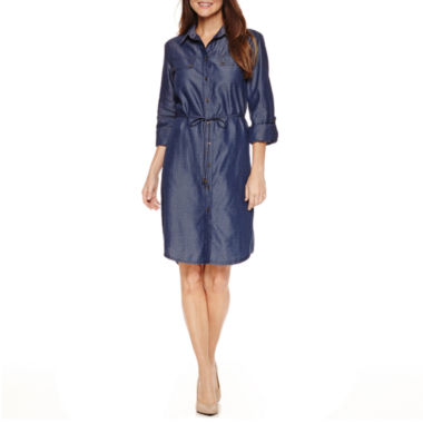 jcpenney.com | Ronni Nicole 3/4 Sleeve Shirt Dress
