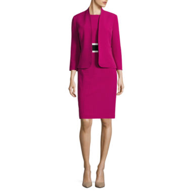 jcpenney.com | Black Label by Evan-Picone 3/4 Sleeve Jacket with Sleeveless Contrast Waist Sheath Dress