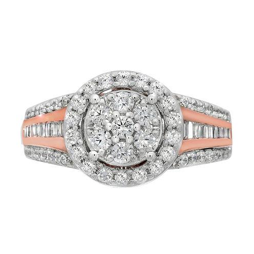 Diamond Blossom Womens 1 CT. T.W. White Diamond 10K Gold