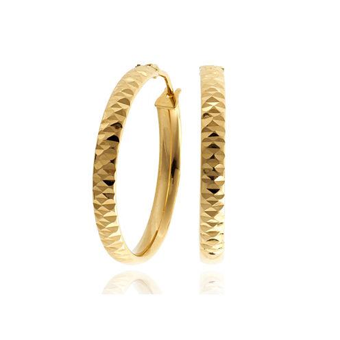 Made In Italy 14K Gold Hoop Earrings