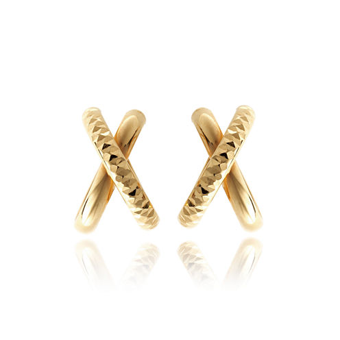 Made In Italy 14K Gold Hoop Earrings