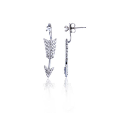 jcpenney.com | Sterling Silver Cubic Zirconia Arrow Stud Earring