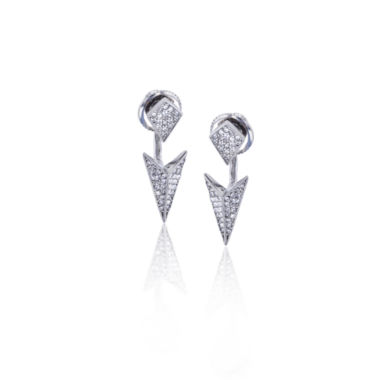 jcpenney.com | Sterling Silver Cubic Zirconia Spike Double Stud Earring