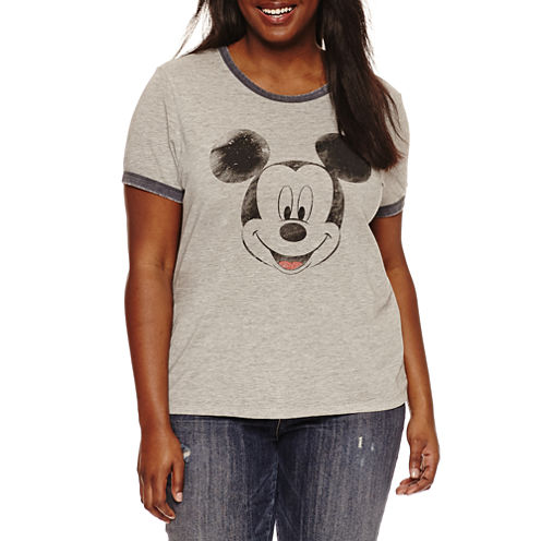 """Short Sleeve Crew Neck """"Mickey Mouse"""" Graphic T-Shirt"""