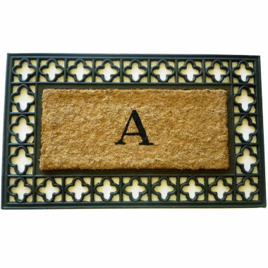 "jcpenney.com | Monogram Cross Rectangle Doormat - 18""X30"""