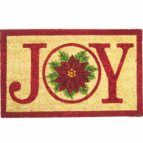 Joy Poinsettia Doormat