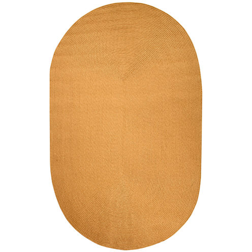 Better Trends Country Solid Braided Oval Reversible Rugs