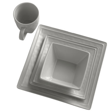 jcpenney.com | JCP Home Dillon 4-pc. Place Setting Square Gray