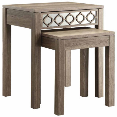 jcpenney.com | Helena 2-pc. Nesting Tables with Mirror Accent Panel