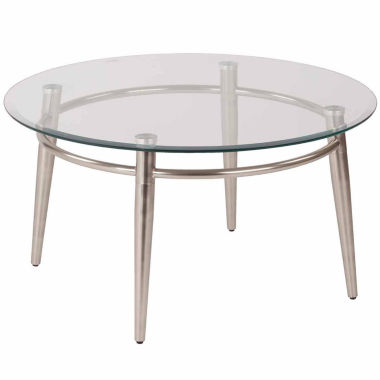 jcpenney.com | Brooklyn 30 Round Glass Coffee Table
