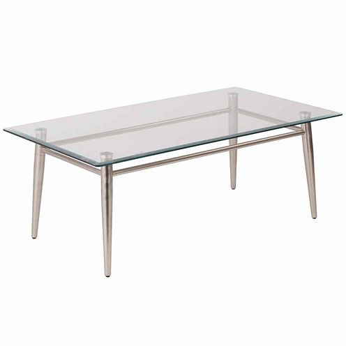 Brooklyn Glass Square Coffee Table