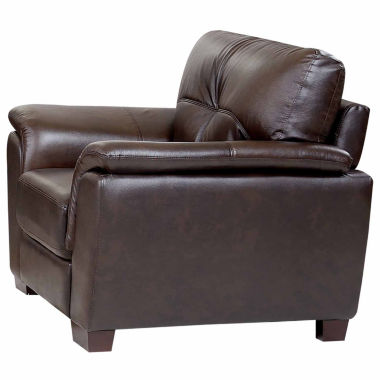 jcpenney.com | Victoria Leather Pad-Arm Chair