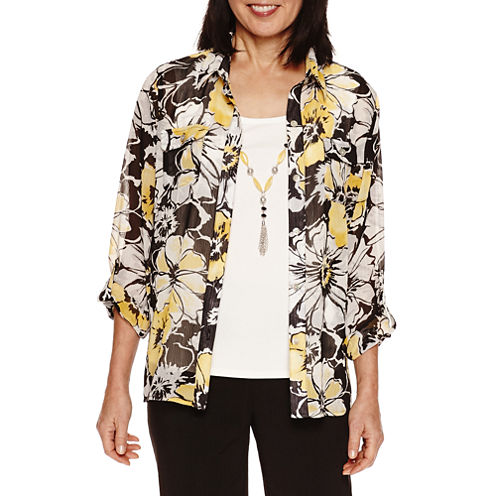 Alfred Dunner City Life Long Sleeve Layered Top