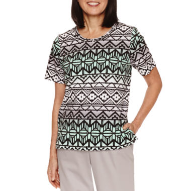 jcpenney.com | Alfred Dunner Mint To Be Short Sleeve Crew Neck T-Shirt