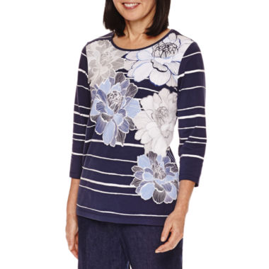 jcpenney.com | Alfred Dunner Floral Stripe Tee