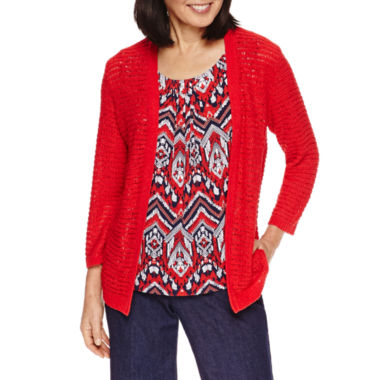 jcpenney.com | Alfred Dunner Zig Zag Layered Sweater