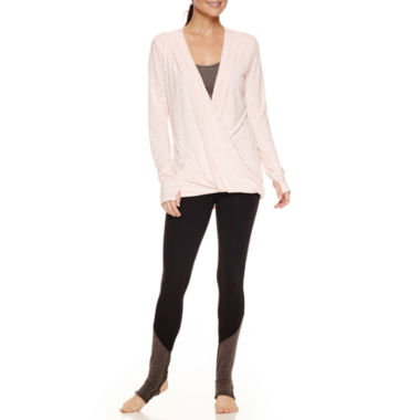 jcpenney.com | Xersion™ Quick-Dri Workout Tank Top, Studio Long Sleeve Wrap Tee, or Studio Barre Legging