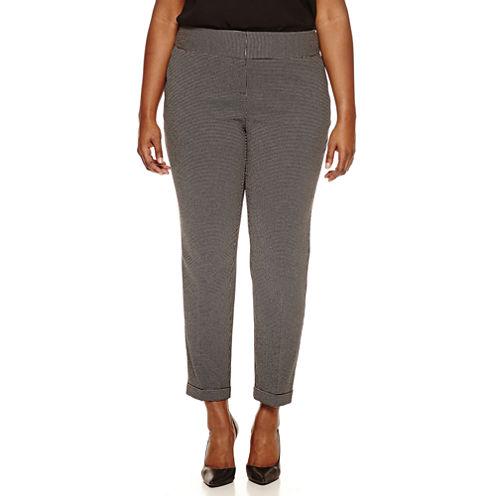 Worthington® Wide Waistband Slim Pants - Plus