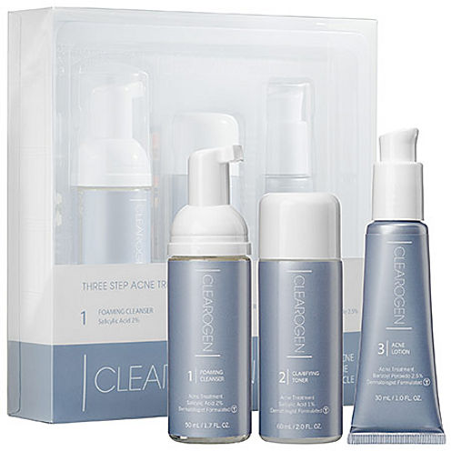 Clearogen Three Step Acne Treatment Set