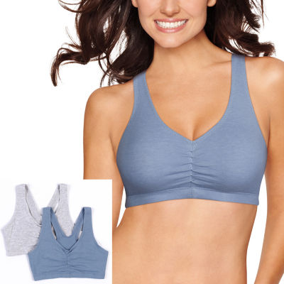 f948c88b06 Hanes Comfy Support 2 pk Wireless Racerback Bra DHHB70 JCPenney