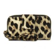 Mundi® Call Me Cell Phone Leopard Print Wristlet
