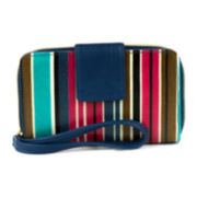 Mundi® Call Me Cell Phone Stripes Wristlet