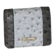 Buxton® Ostrich-Embossed Pop Panel Billfold Mini